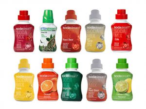 Selection of SodaStream Soda Mixes