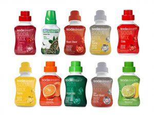 Selection of SodaStream Soda Mixes